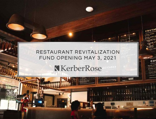 Restaurant Revitalization Fund Opening May '21