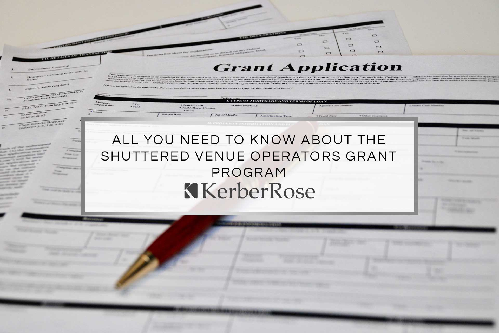All You Need to Know About the Shuttered Venue Operators Grant Program